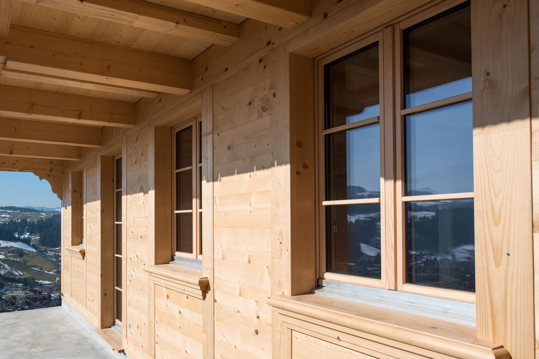 Foto von Holzfenster – Produkt Fenster Sommer AG