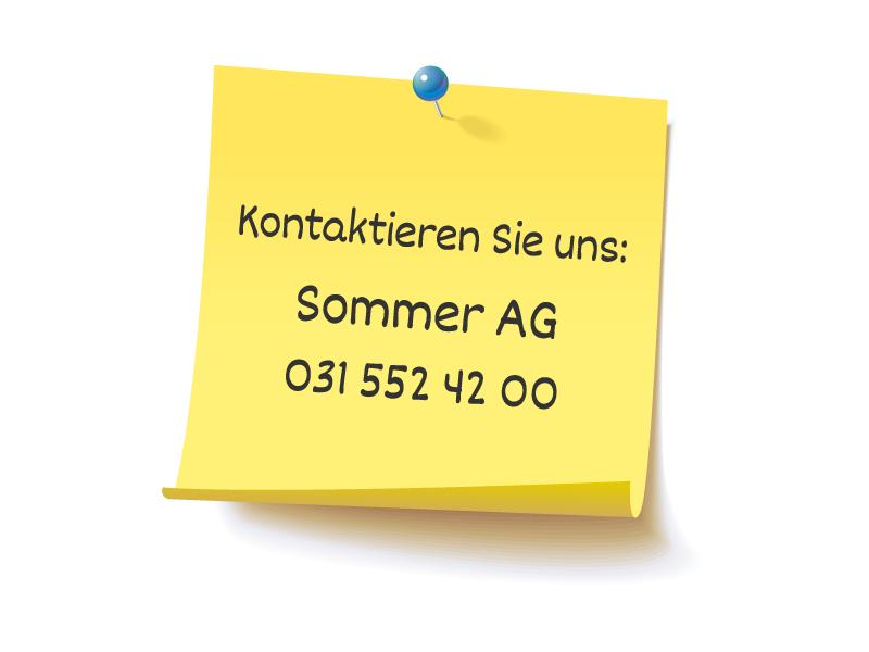Kontaktieren Sie uns – Sommer AG in Konolfingen, Telefon +41 31 790 23 90